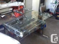 I have a glass and Chrome computer desk in as new