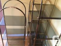 Selling three brass glass displays in excellent shape.