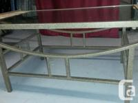 Hi, we have a glass/ceramic plates coffee table for
