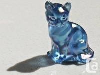 I offer     1.beautiful Fenton Carnival glass Kitten