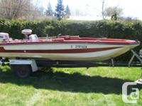 GLASTRON ELITE SRV 15' BASS BOAT 1988 JOHNSON 60 HP