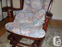 Roxton Glider Rocking Chair - Maple spindles and Pine