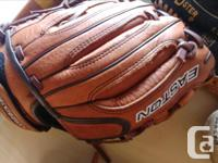 Two adult size gloves in great shape, also 3 gloves for