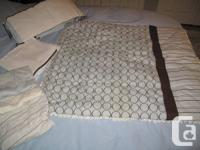 Gluckstein Crib Bedding $50 (paid $200) from The Bay.