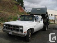 GMC 1 t. dump truck, duel fuel (gas/propane), dual