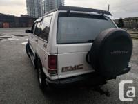 Make GMC Model Jimmy Year 1991 Colour Arctic White kms