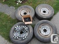 GMC full size truck tires off of Sierra. Comes with