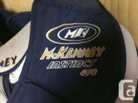 Goalie equipment for sale -McKenny chest protector.