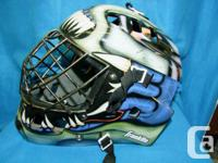 Franklyn brand street hockey helmet for goalie, in good