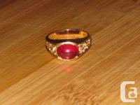 10k gold vintage ruby ring, dimension 8.5 and evaluates