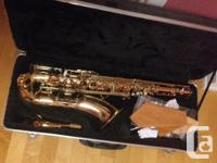 Gold plated Baron brand Bb tenor sax. No scratches,