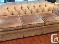 Asking $100 OBO. Well cared velvet couch set by Silver