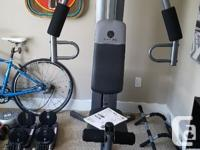 Barely used multi gym. Come with users manual and