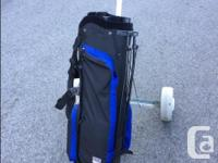 Like new condition golf bag (some tees and balls) and
