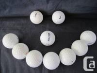 These are golf balls recovered from the Elbow river;