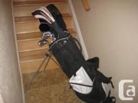 Golf clubs ,with bag.Used only twice,in perfect