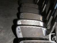 DJ Howson irons. Graphite shafts. Incomplete set. 3 , 6