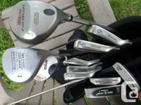 Wilson reflex, graphite shaft stainless heads, golf