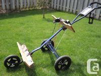 EZ Cart Pro LX 3-wheeled push cart  If you are couple