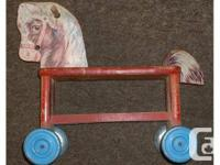 Kid's equine manufactured by Gong, possibly 1920's.