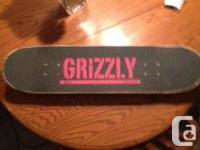 hi im selling a skate board has a habitat deck grizzly