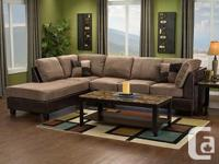 Modern 2 Piece sectional, Valued at $1,400 Selling for