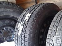4 BF Goodrich Winter season Slalom tires on steel rims