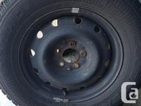 Winter tires & rims 235/65R16 For sale with rims $600