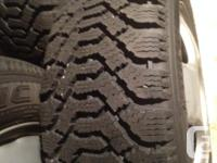 Goodyear Nordic winter tires and rims. These tires are