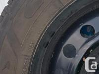 Set of 4 winter tires with rims Were purchased in