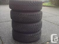 Goodyear ultra grip winter tires. In near new condition