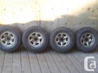 LT235/75R15 Goodyear Wrangler tires mounted on Nissan