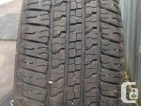 These Goodyear Wrangler tires are like new, only 1500