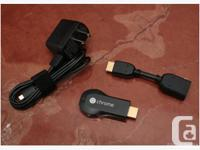 With Chromecast, you can easily enjoy your favorite