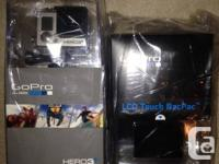 Brand New Gopro 3+ Silver with LCD Touch BacPac. Both