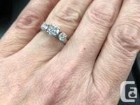 1.08 ct Size 5.5 Just had Diamonds rebuffed and new