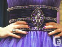-Gorgeous purple ball gown with light blue tulle  -Size