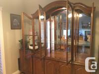 Beautiful China Cabinet - tons of space. The Upper