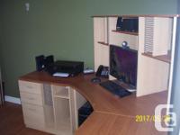 his desk unit (actually four separate pieces) was