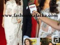 The gorgeous white net saree is only tremendous in its