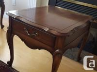 A gorgeous mahogany French Provincial living room set