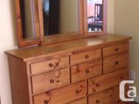 Long Dresser With Mirror 58 in. Long 17.25 in. Deep