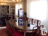 Exquisite, hand crafted, solid Rosewood Dining Room Set