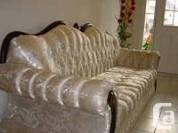 WE ARE SELLING OUR THREE PIECE LIVING ROOM SET.  THIS