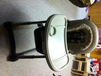 Beautiful high chair and also car seat system. Made use