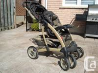 Graco Premium Full Sized Brown Stroller - Easy One Hand