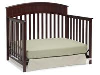 -Classic Cherry Colour -Crib converts to a toddler bed