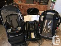 This comes with stroller/car seat/base/ basinette for