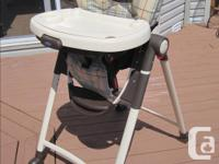 Their slimmest folding highchair. Easy to store and