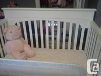 Crib that converts into toddler bed and then full bed;
